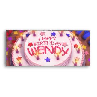 Wendy's Birthday Cake Envelopes