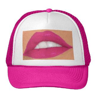 wendys lips trucker hat