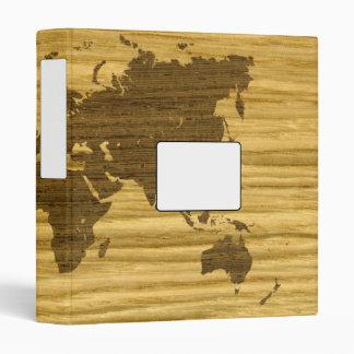 Wenge and Rift Oak World Map Vinyl Binder