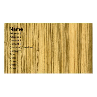 Wenge and Zebrano Veneer Wolf Business Card Template