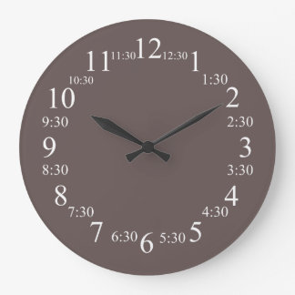 Wenge Top Colored Large Clock