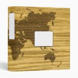 Wenge y mapa del mundo del roble de la grieta