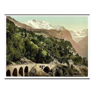 Wengern Alp Station, railway, Bernese Oberland, Sw Postcard