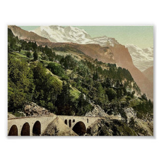 Wengern Alp Station, railway, Bernese Oberland, Sw Posters