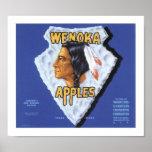 Wenoka Apples Poster
