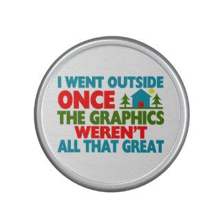 Went Outside Graphics Weren't Great Speaker