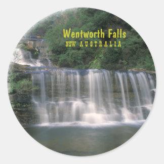 Wentworth Falls Australia Round Stickers