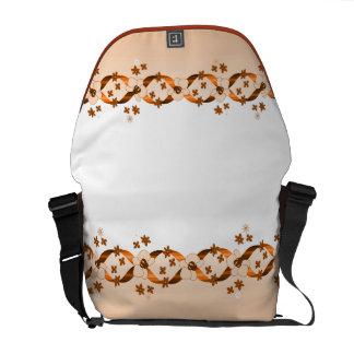 Wentworth Orange Ribbons & Flowers Rickshaw Messen Messenger Bag