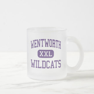 Wentworth - Wildcats - Junior - Calumet City 10 Oz Frosted Glass Coffee Mug