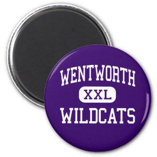 Wentworth - Wildcats - Junior - Calumet City 2 Inch Round Magnet