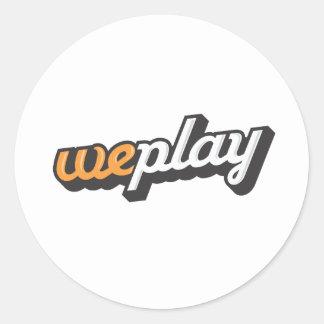 weplay_Logo-1.ai Classic Round Sticker