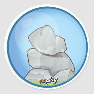 Weplay Props Series 1 - Rock Solid Classic Round Sticker