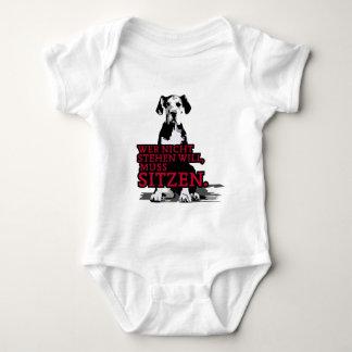 Wer nicht stehen will Doggenwelpe Baby Bodysuit