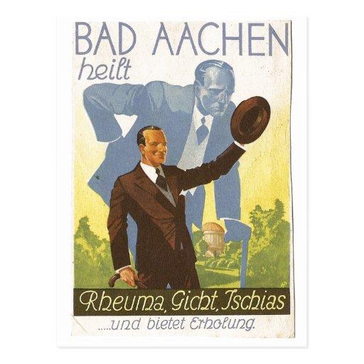 Werbekarte Aachen 1931 Stop Backaches - Germany Post Cards