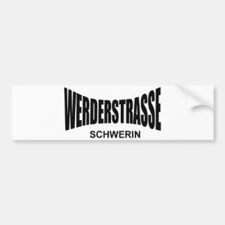 WERDER ROUTE - Schwerin Bumper Sticker