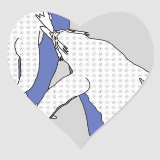 We're A Blue Pair Heart Sticker