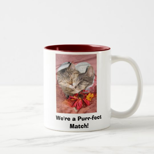 We're a Purr-fect Match! Two-Tone Coffee Mug