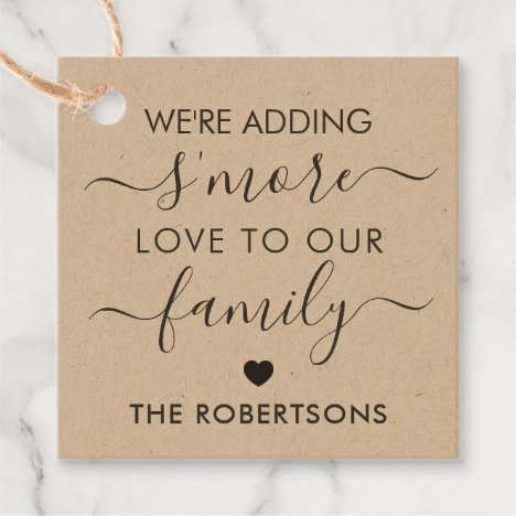 We're Adding S'more Love to Our Family Tags, Kraft Favor Tags