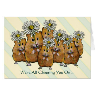 We're All Cheering You On, Fight Cancer, Hamsters Card
