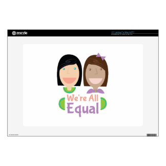 Were All Equal Laptop Decal