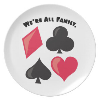 We're All Family. Party Plate