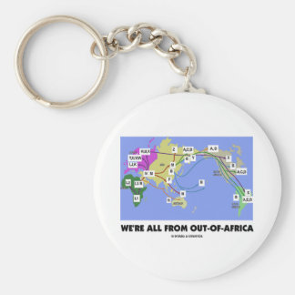 We're All From Out-Of-Africa (Haplogroup) Basic Round Button Keychain