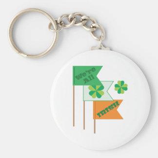 Were All Irish Basic Round Button Keychain