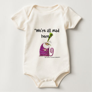 We're all mad here baby bodysuit
