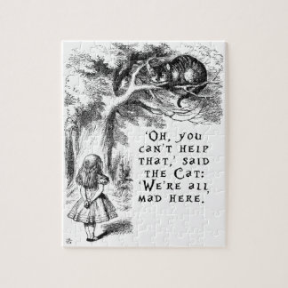 We're all mad here - Cheshire cat Jigsaw Puzzle