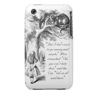 We're All Mad Here iPhone 3 Covers