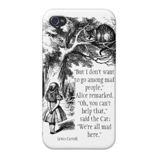 We're All Mad Here iPhone Case Cover For iPhone 4