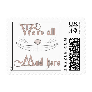 We're All Mad Here Postage Stamps