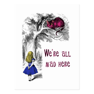 We're All Mad Here Postcard