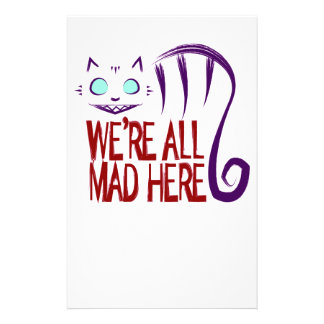 We're All Mad Here Stationery