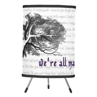 We're All Mad Here! Tripod Lamp