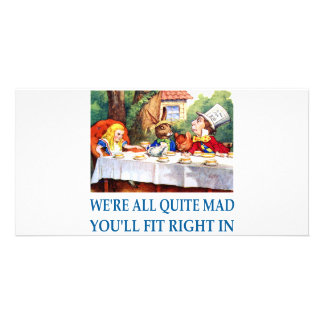 WE'RE ALL  QUITE MAD CARD