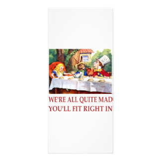 WE'RE ALL QUITE MAD, YOU'LL FIT RIGHT IN RACK CARD