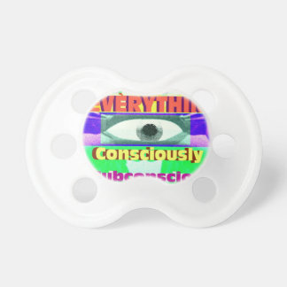 We're conditioned by everything subconsciously baby pacifier