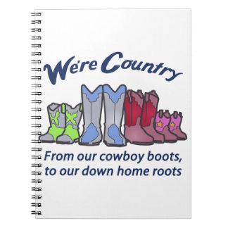 WERE COUNTRY SPIRAL NOTE BOOKS