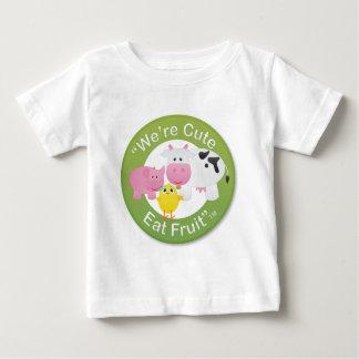 We're Cute, Eat Fruit Baby T-Shirt