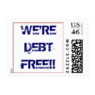 We're Debt Free Postage