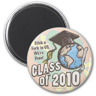 We're Done Class of 2010 Gear by Mudge Fridge Magnets