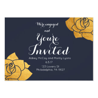 We're Engaged and Your're invited! Wedding RSVP Card