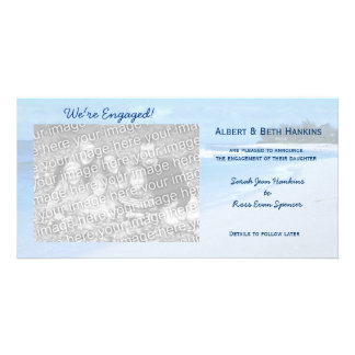 We're Engaged Blue Ocean Photo Cards