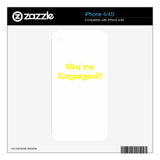 We're Engaged Decals For The iPhone 4
