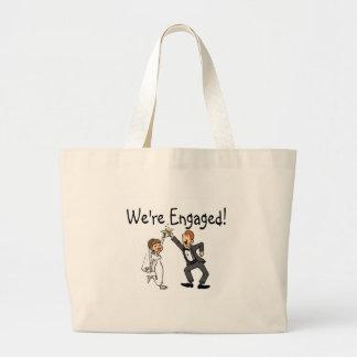 Were Engaged Jumbo Tote Bag
