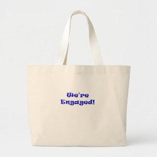We're Engaged Jumbo Tote Bag
