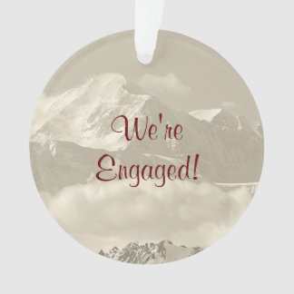 We're Engaged Keepsake for Engagement Ornament