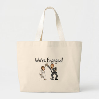 Were Engaged Large Tote Bag