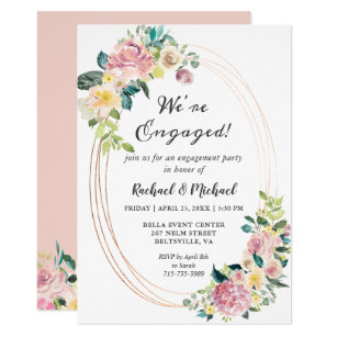 Pastel Engagement Party Invitations Zazzle